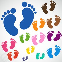 Baby feet free vector download