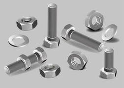 Nuts and Bolts Vector Set