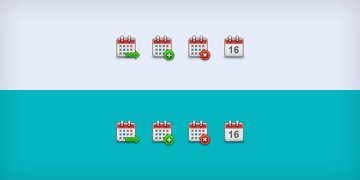Small Calendar Icons (PSD & PNG)