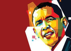 Free Obama Vector Portrait Two