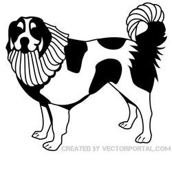 BLACK AND WHITE DOG VECTOR IMAGE.eps