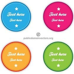 COLORFUL BLANK STICKERS VECTOR.eps