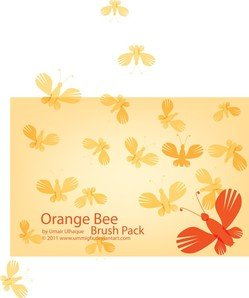 Orange Bee Brush