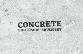 Concrete Photoshop Brush Set