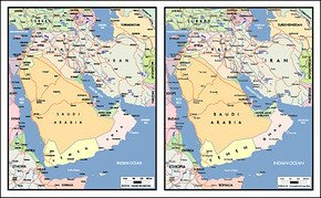 Vector map of the world exquisite material - the Arabian Pen