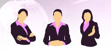 Female Business Silhouettes