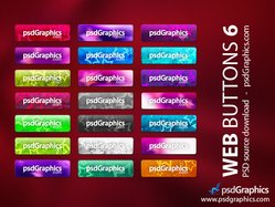 Web buttons set with stars background