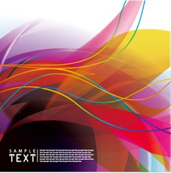 Colorful background vector flow lines
