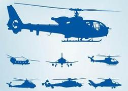 Helicopter Silhouettes