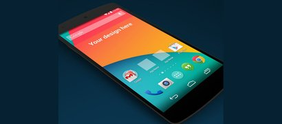 Google Nexus 5 Mobile Mockup