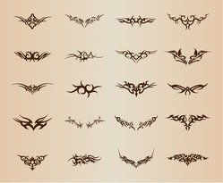 Tribal Tattoo Element Vector Set