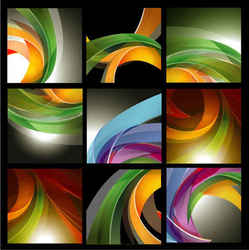 Brilliant dynamic ribbon background