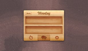 iPhone Wood UI