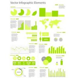 Flat Style Template Infographic Set