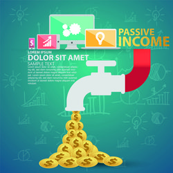 Creative passive income money background vector 02