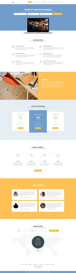 Free Business Theme PSD