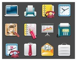 vector office supplies icon