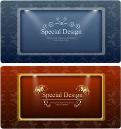 2 Ornamental Banners with Lights