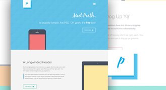 Freebie PSD: Perth - A Free Flat Web Design
