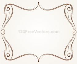 Vector Ornament Frame Illustration