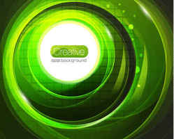 Green halo Abstract background