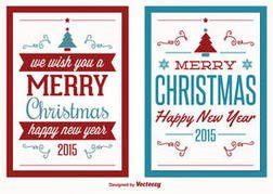 Vector Christmas Greeting Cards