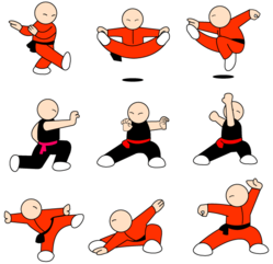Kung Fu Character Free Vector Pack