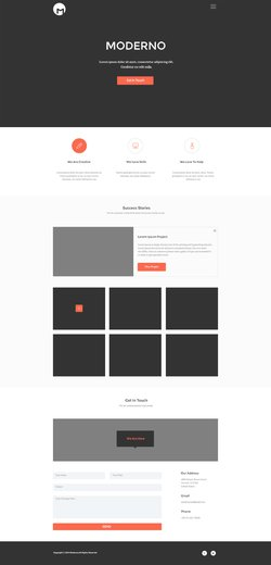 Freebie - Moderno,Creative Simple Portfolio Page