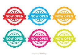 Colorful Now Open Vector Pack
