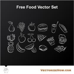 FOOD ICONS VECTOR PACK.eps