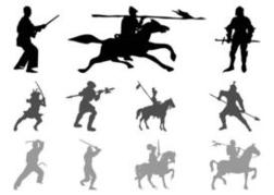 Warriors And Knights Silhouettes