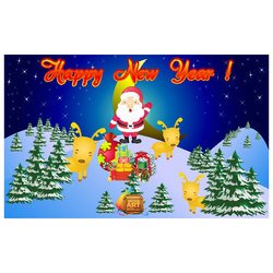 NEW YEAR GREETING CARD VECTOR.ai