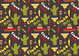 Free Cinco de Mayo Vector Pattern