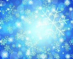 Christmas Snowflakes Blue Background