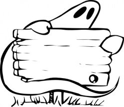 Ghost With Sign
