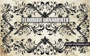 10 Flourish ornaments