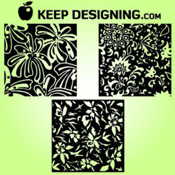 Hand Drawn Vintage Floral Patterns