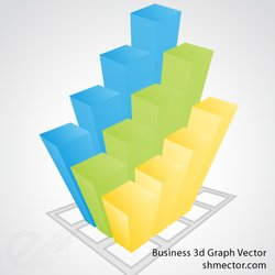 Vector Business 3d Graph
