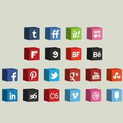 SOCIAL ICONS 3D VECTOR PACK.eps