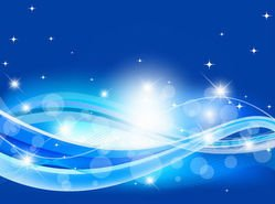 Abstract Blue Wave Background with Sparkles