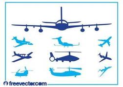 Aircraft Silhouettes Set