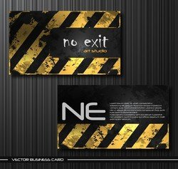 Old Metal Business Card Templates