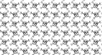 Hand Drawn Skulls Seamless Photoshop And Illustrator Pattern