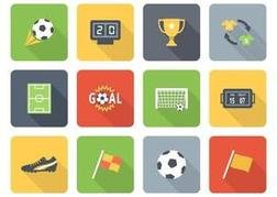 Free Flat Soccer Vector Icons Two