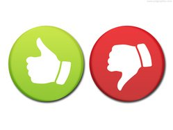 Round rating buttons (PSD)