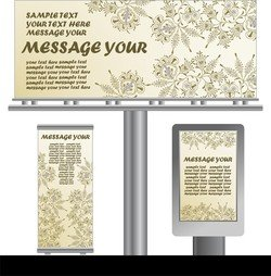 Light Box Billboards Template Design Vector 3