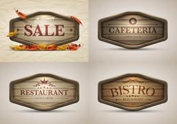 Vintage Autumn Sales and Restaurant Banners
