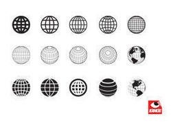 A Collection of Clean Style Globe Vectors