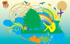 Silhouette Graphic Sign of Peace