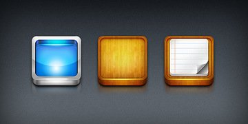 iPhone app icon templates (PSD)